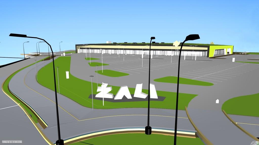 3D pastato vaizdas iš virtualaus modelio