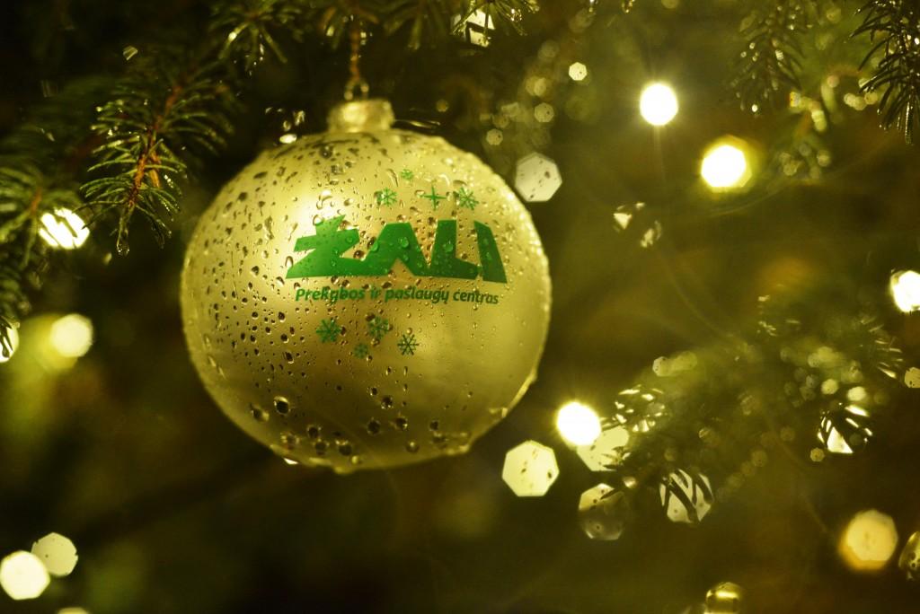 """Mūsū dovana - kalėdinės eglutės burbulai """"ŽALI"""""""