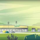 Norime pastatyti tokį šviesų ir žalią prekybos centrą